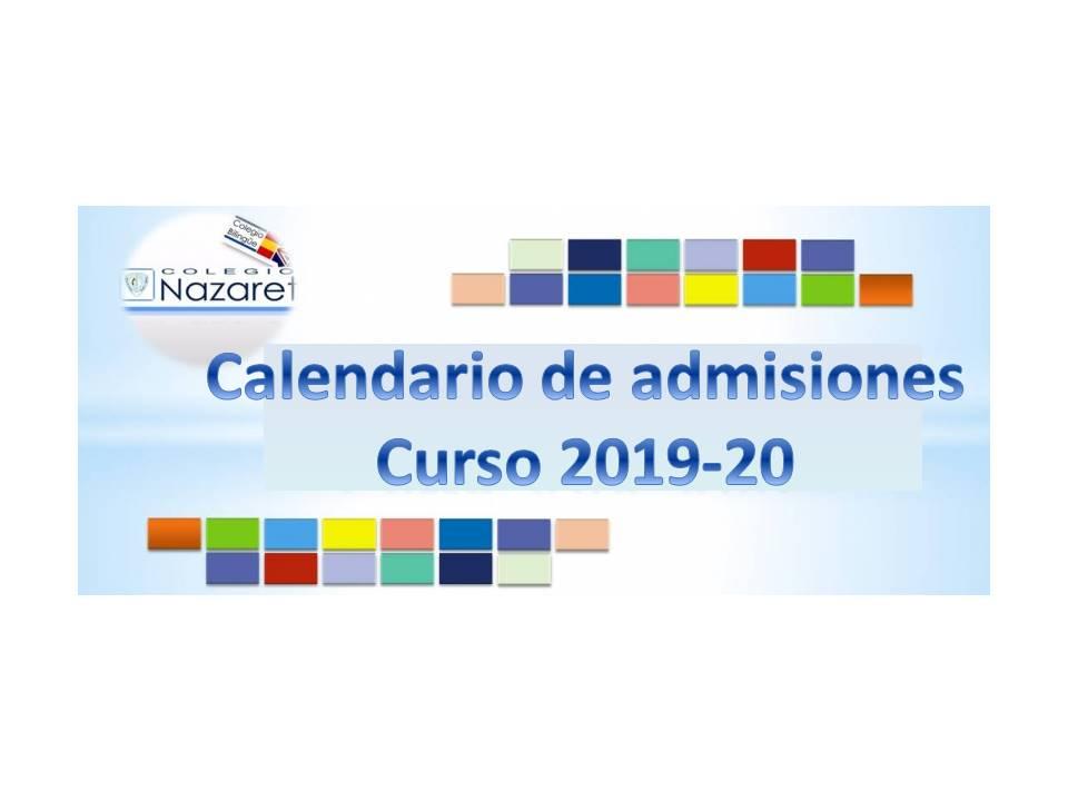 Calendario Belen 2020.Abierto El Plazo De Admisiones Para El Curso 2019 2020