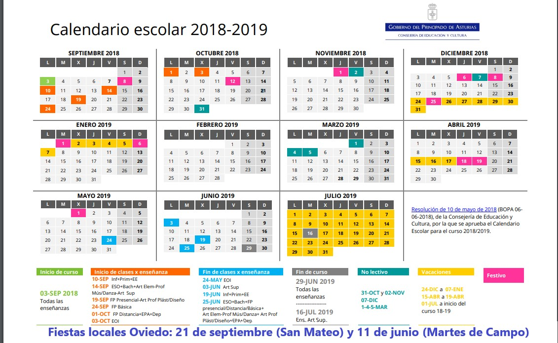 Calendario Escolar Madrid 202018.Top 10 Punto Medio Noticias Calendario Escolar 2018 Y 2019 Sep