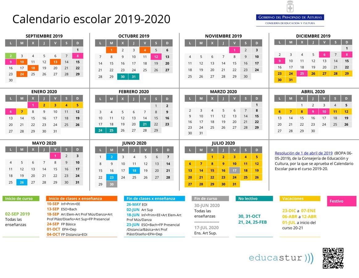 Calendario Escolar 18 19 Asturias.Calendario Y Horarios Colegio Nazaret Oviedo